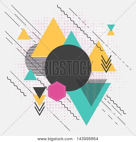 Abstract geometric forms modern background with triangles and patterns backdrop illustration