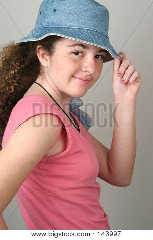 Stylish Girl Tips Hat