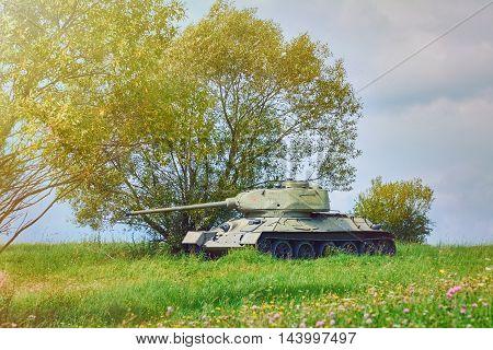 Tank of Second World War on the Battle Field