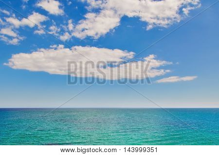View on the Black Sea under Cloudy Sky