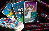 pic of fortune-teller  - My tarot cards with a crystal ball - JPG