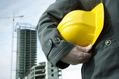 stock photo of hard_hat  - focus point on the hard - JPG