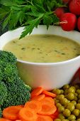stock photo of vegetable soup  - Vegetable soup - JPG