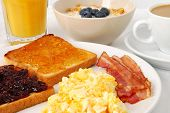 picture of scrambled eggs  - Breakfast with scrambled eggs - JPG
