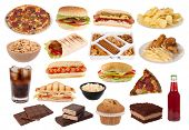 image of junk food  - Fast food and snacks collection - JPG