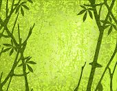 Editable vector illustration of a mossy forest with branches and grunges on separate layers