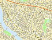 Постер, плакат: Редактируемые векторные карта города универсального не имена