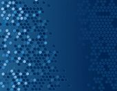 Abstract editable vector background of blue hexagons