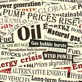 picture of current affairs  - Illustrated seamless tile of energy headlines - JPG