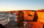 The Twelve Apostles, Victoria, Australia, at sunset.
