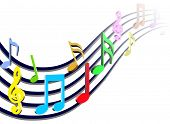 pic of musical scale  - colorful music bars  - JPG