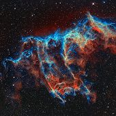 The Veil Nebula In The Constellation Cygnus. poster