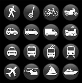 image of transportation icons  - Original vector illustration - JPG