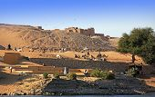 stock photo of nubian  - nubian village on the shore of the river nile in egypt