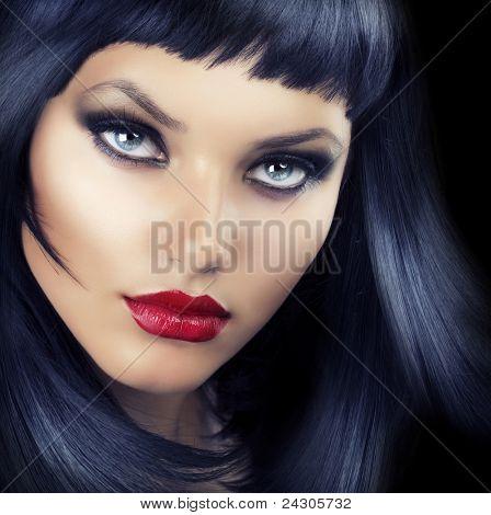 Beauty Brunette Girl