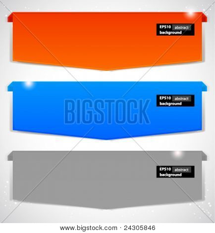 Abstract banner. Vector background.