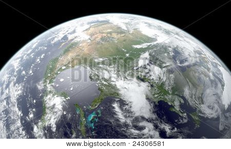 Earth rendering