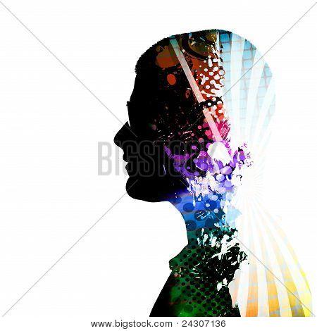 Creative Thinker Man Silhouette