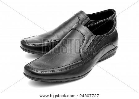 Pair Of Black Man's Shoes