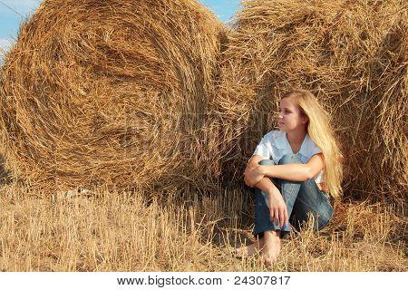 Girl At Straw