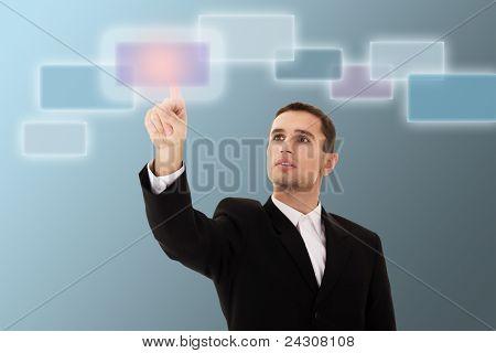 Businessman Making Choise