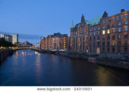 Historical Speicherstadt In Hamburg
