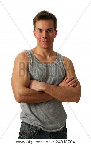 Jungen muskulösen Mann