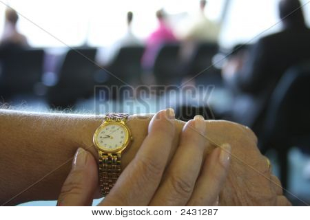 Hand Watch - Time To Go Airport