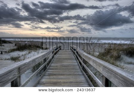 HDR of Sunrise at Tybee