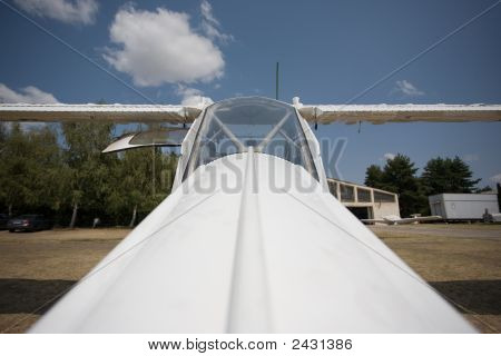 Aircraft On The Ground, Front View, Wide Perspective