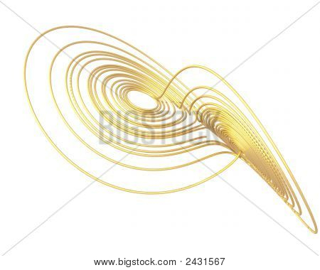 Optical Art Lorenz Golden Attractor Two