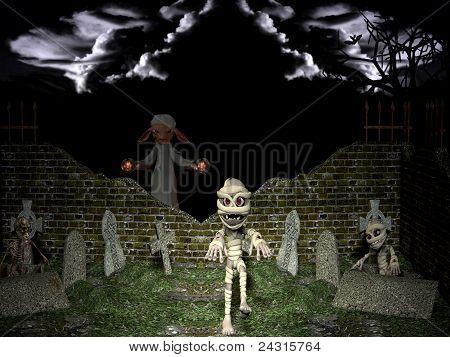 Resurrection Of The Dead On Halloween Night.