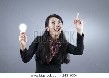 Asian Businesswoman With Idea