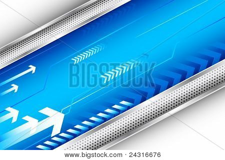 background with arrow and metal stripe