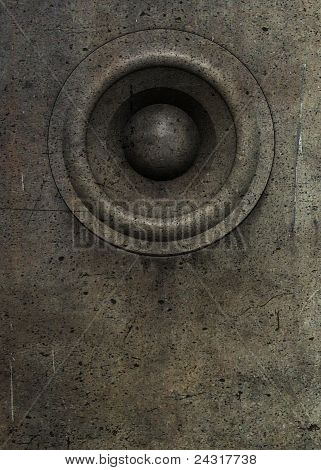 3D Render Grunge Old Speaker Sound System Deejay Dj