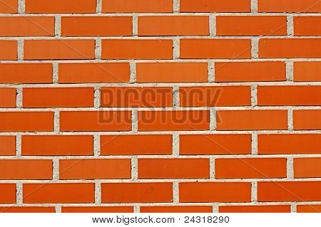 photo of a plain red Brick wall for background