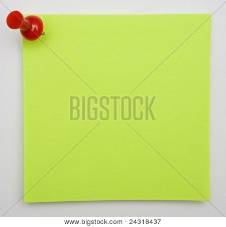 Photo of a Post-It a over white background
