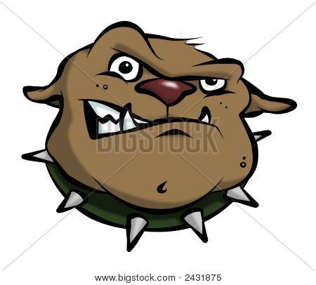 Bulldog de dibujos animados