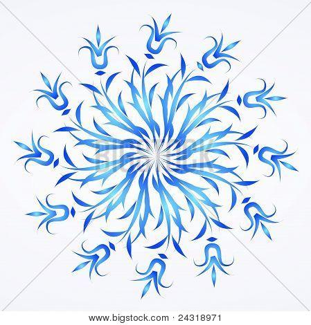 Flowers ornament detail