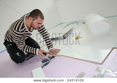Workers Laid Laminate In Home