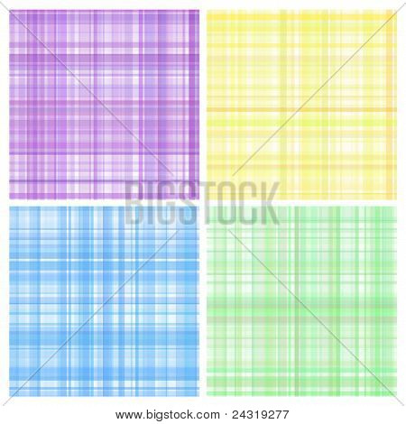 Set of pastel vector stripes plaid