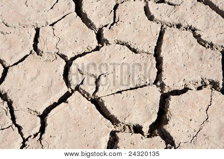 Riverbed without water for drought