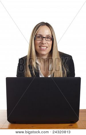 Professional Business Woman looking happy