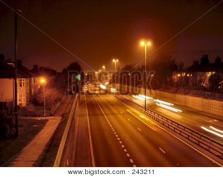 A2 Trunk Road At Night