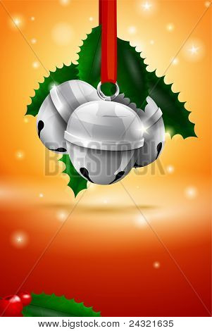 Vector Christmas Sleigh Bell Card