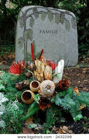 Cemetery At Xmas