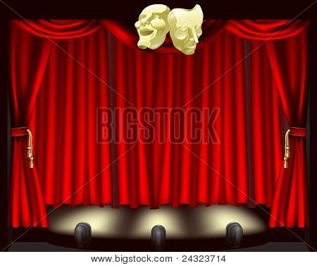 Theatre Stage With Masks