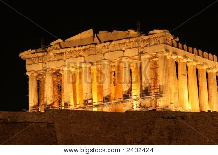 Night View Of Parthenon