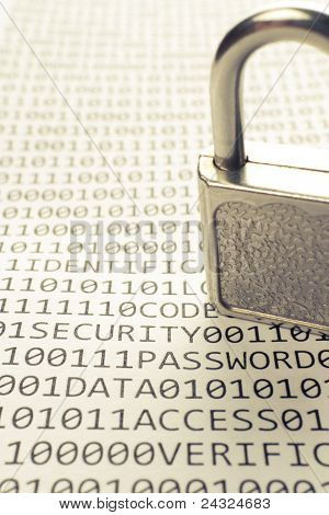 Padlock is on the list with a binary code