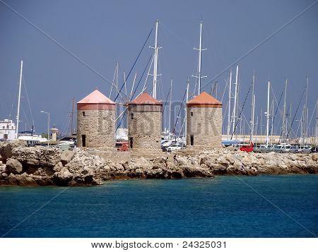Summer Greek resort of Rhodes island